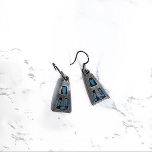 Vintage Mexican | Turquoise & Sterling Earnings